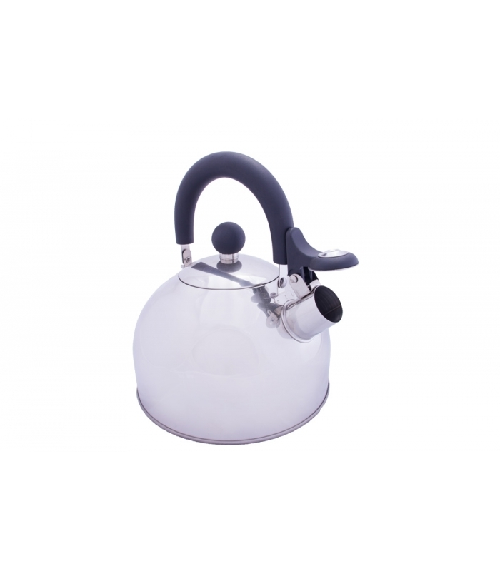 Camping Kettle with folding handle for ease whilst travelling.