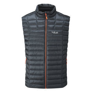 Rab's Altus vest is filled with hydrophobic down for superb warmth.