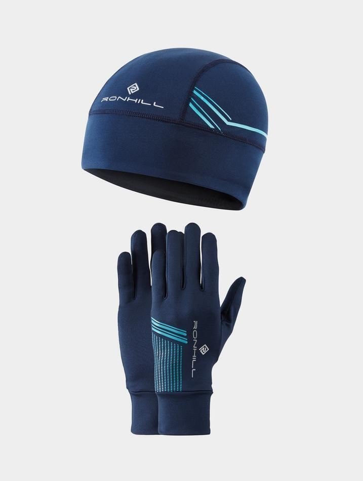 Beanie and glove gift set in Navy