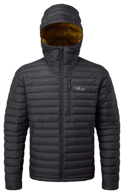 New for 2020 the MIcrolight Alpine is a packable down jacket made with recycled fabric and fillings.