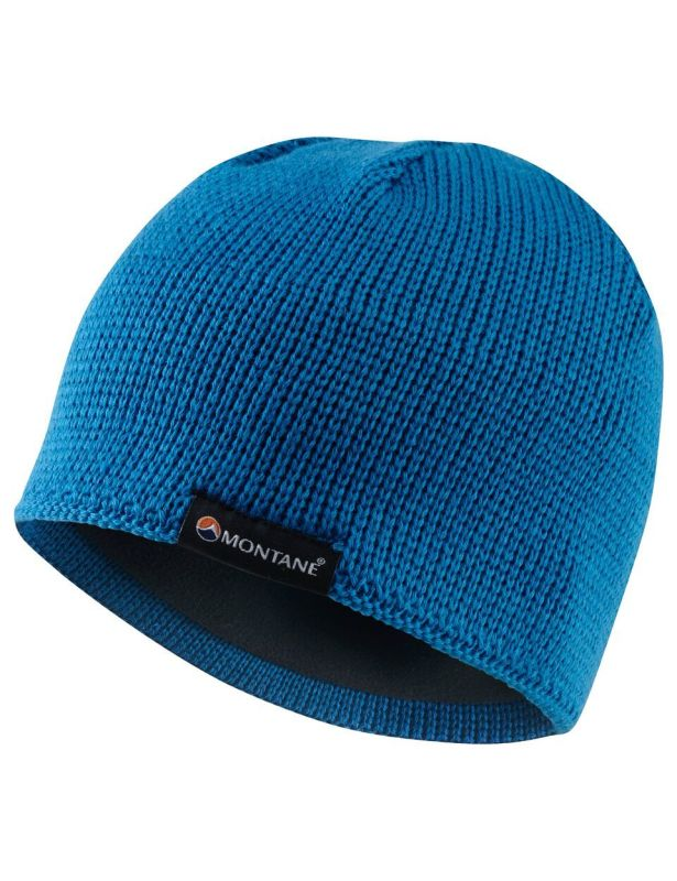 Montane Resolute Beanie is a warm knitted hat with fleece lined band.