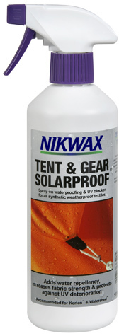 Nikwax tent gear for keeping your tent protected and water repelent
