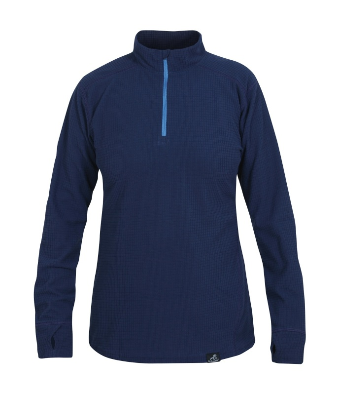Technical grid baselayer for winter layering